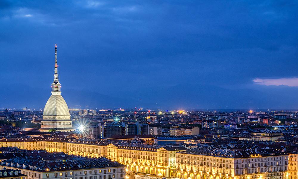 Panorama Torino con Mole Antonelliana