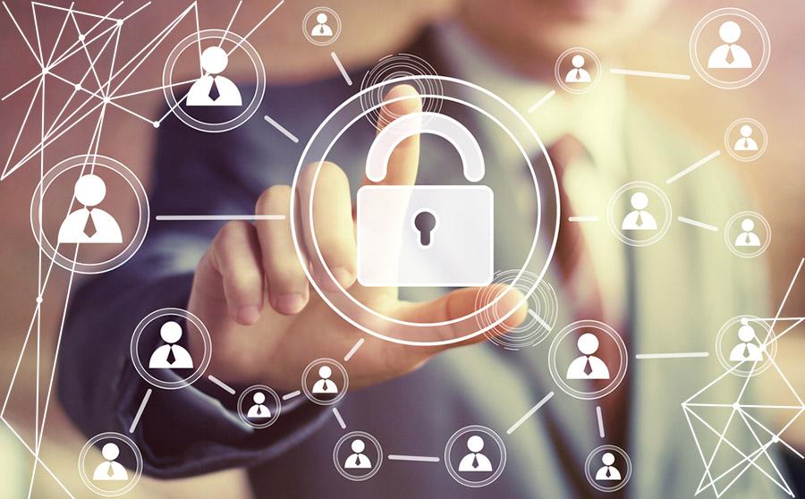 Lucchetto, simbolo della sicurezza della blockchain