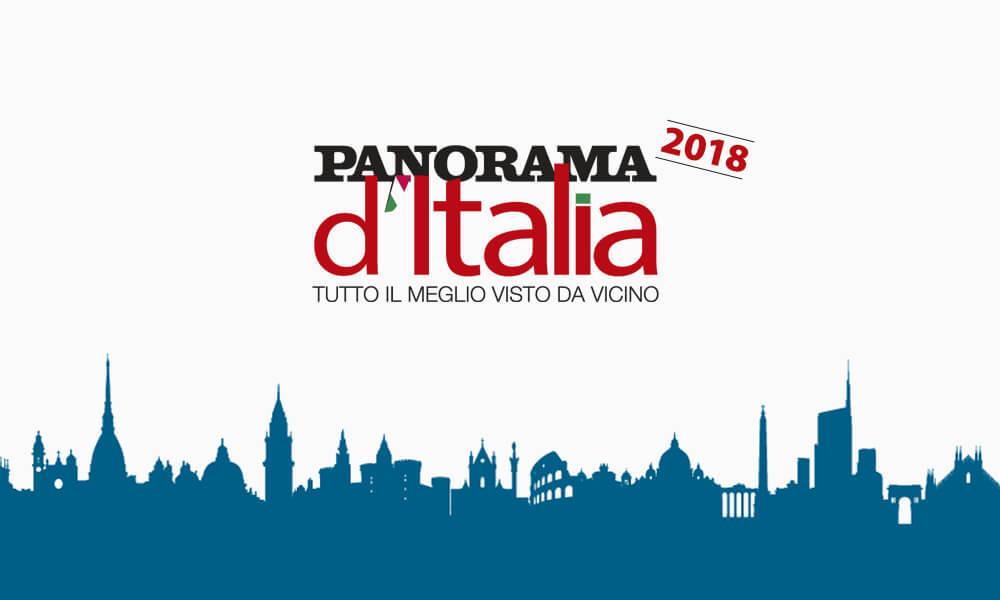 La cover di Panorama d'Italia 2018 con lo skyline di Milano