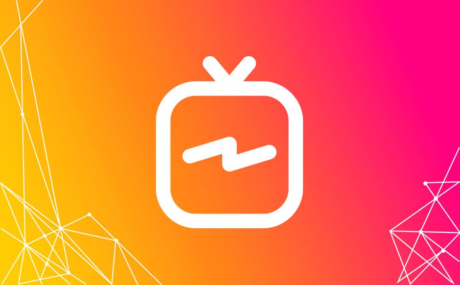Il logo di igtv di instagram