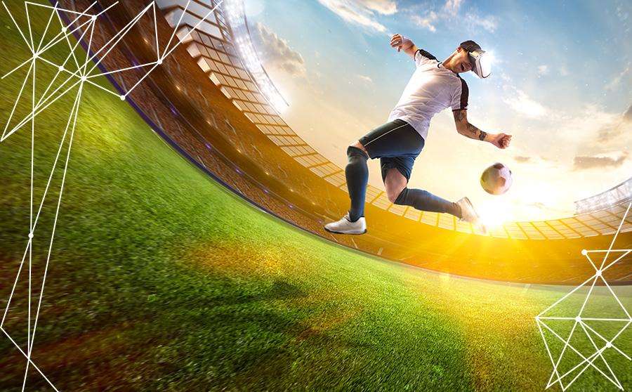Videogiocatore di eSports diventa calciatore reale su un campo da calcio