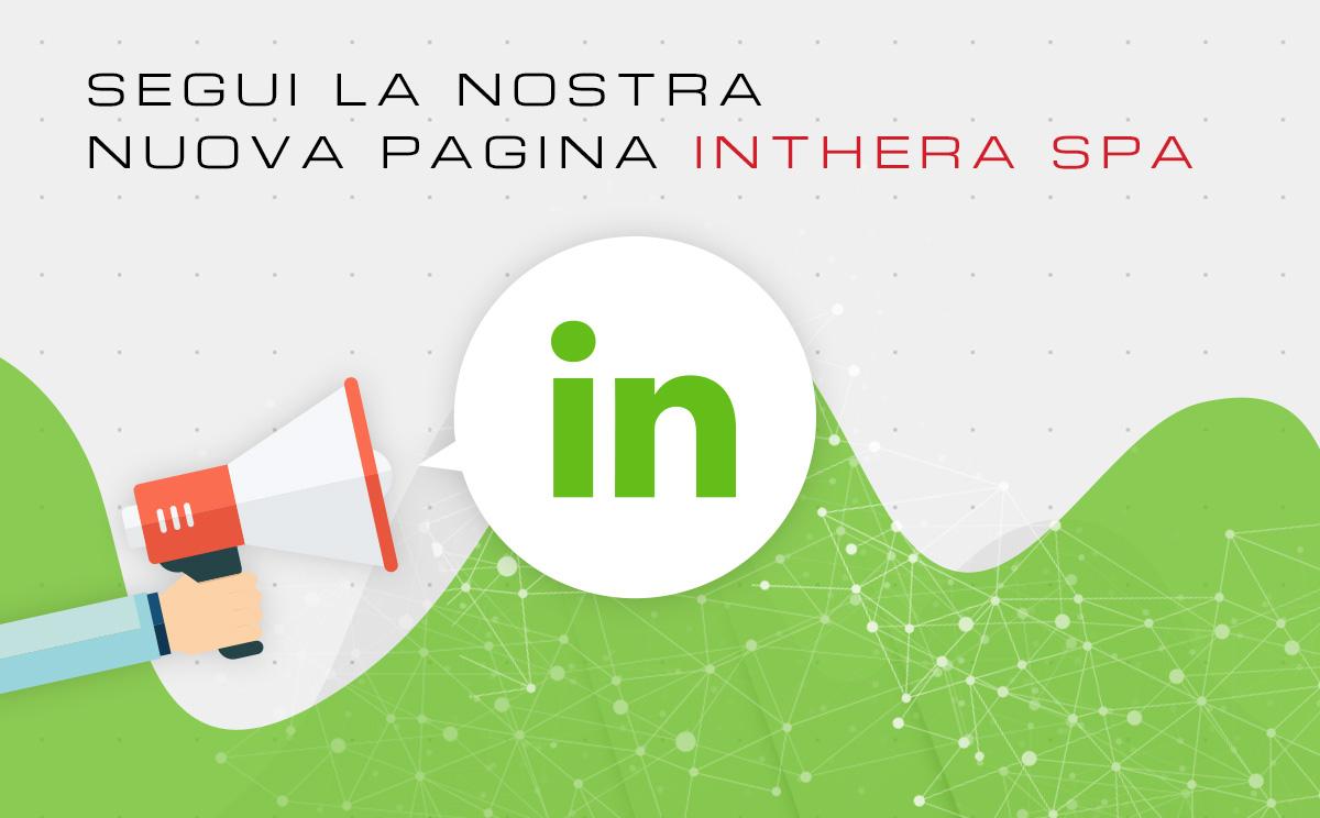 Megafono che annuncia la nuova pagina LinkedIn di Inthera
